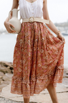 Dahlia Midi Skirt 🌸 Desert Sunset - Saffron Road