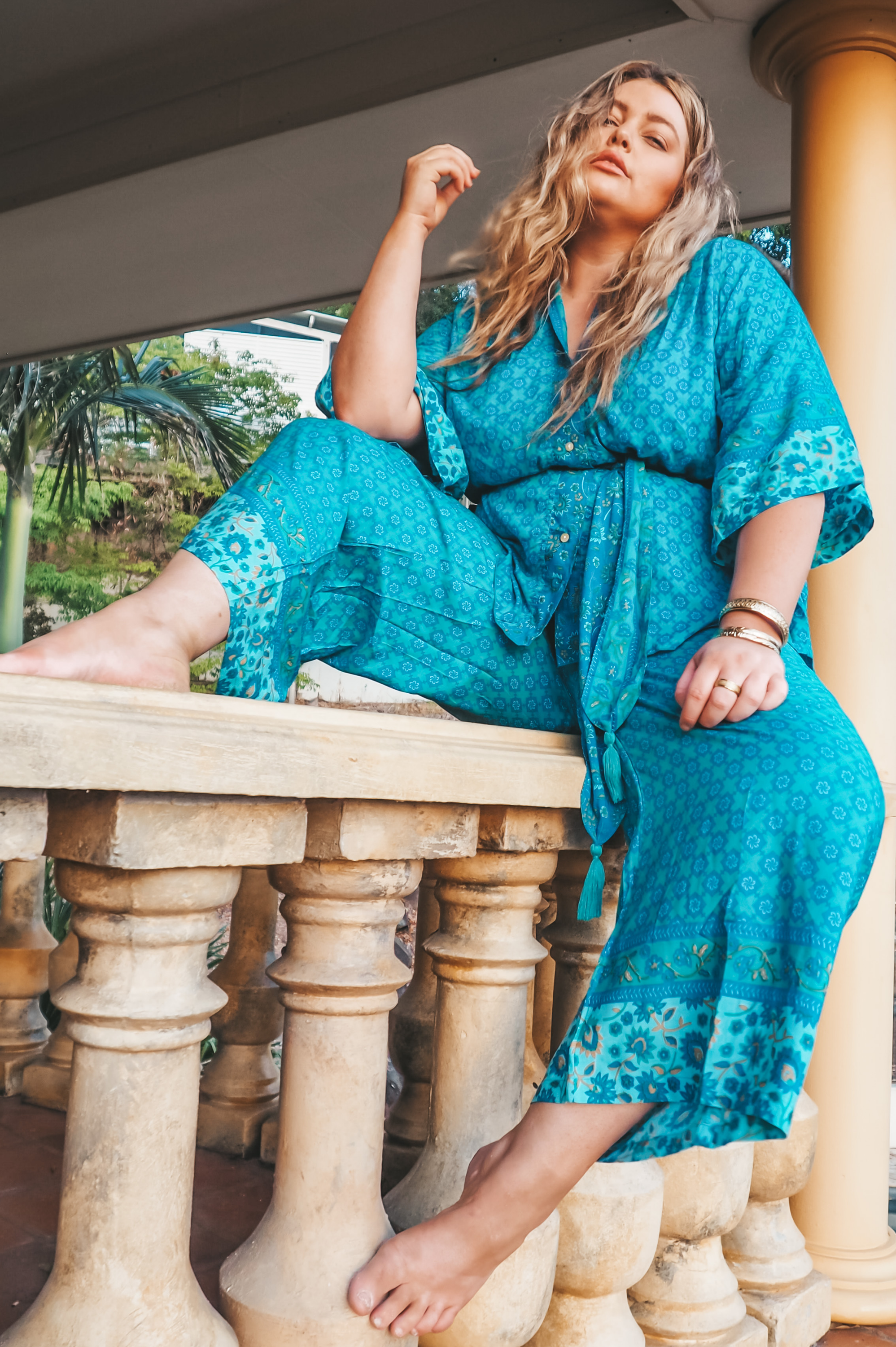 Wide Leg Lounge Pants 🌊 Turquoise - Saffron Road