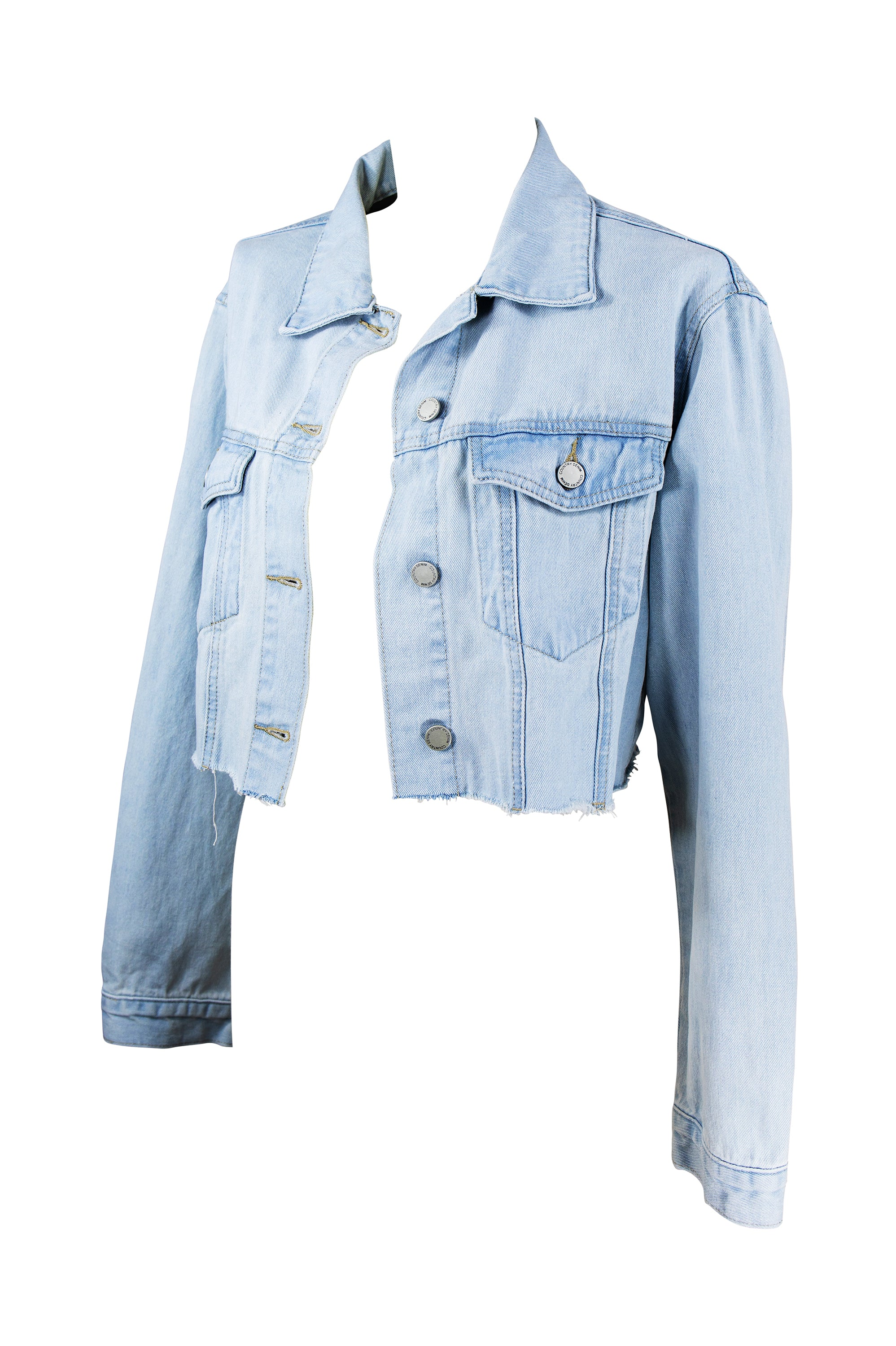 Byron Cut Off Crop Denim Jacket 🌊 Light Denim - Saffron Road