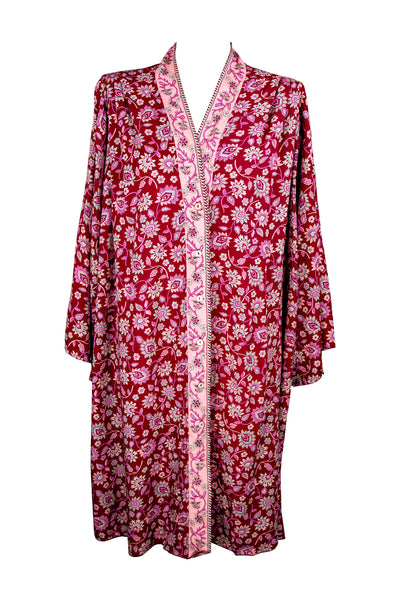 Loungewear Kimono Long 🍓 Strawberry Wine - Saffron Road