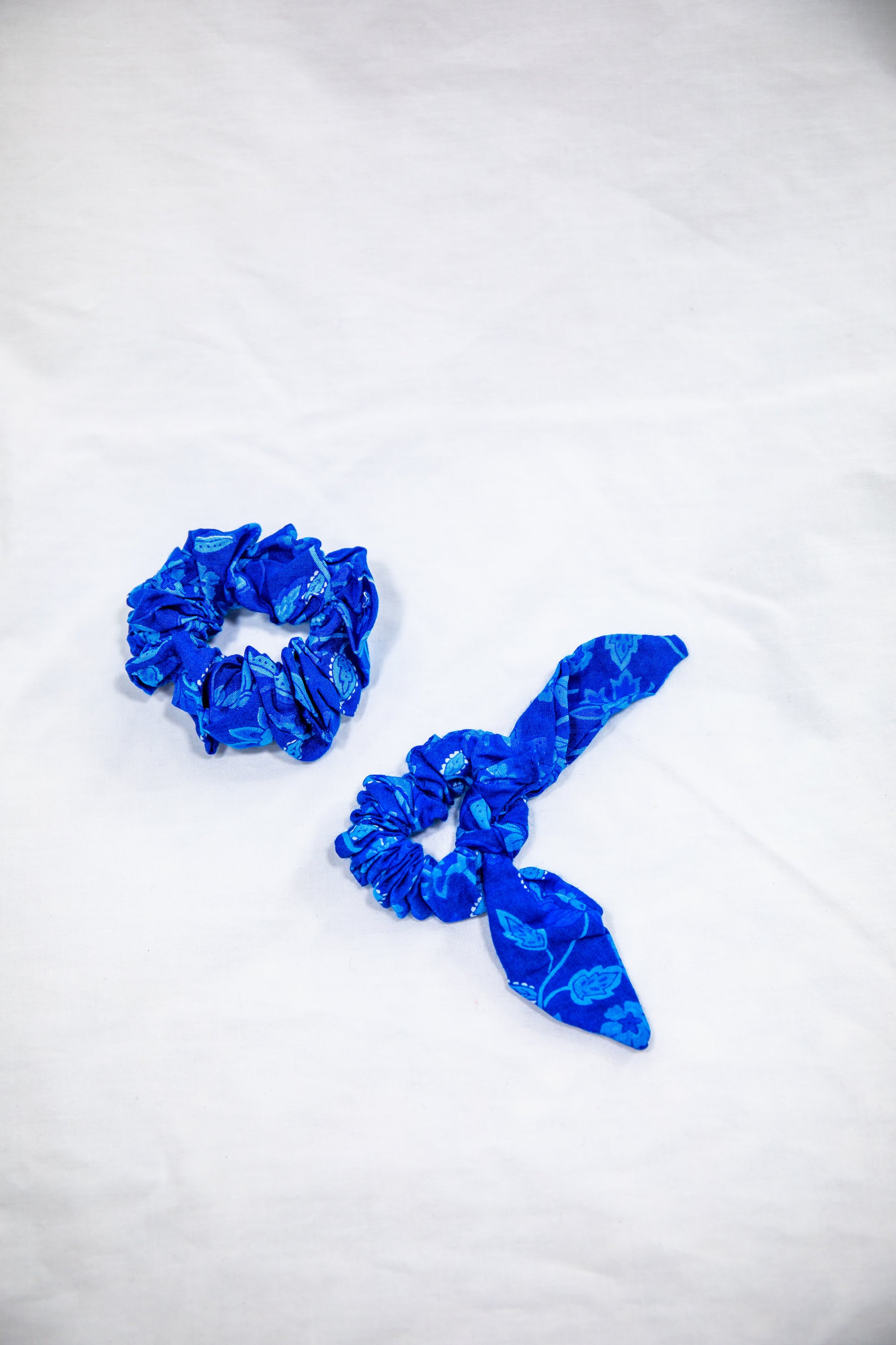 Blue Hawaii 🌊 Hair Scrunchie Set - Saffron Road