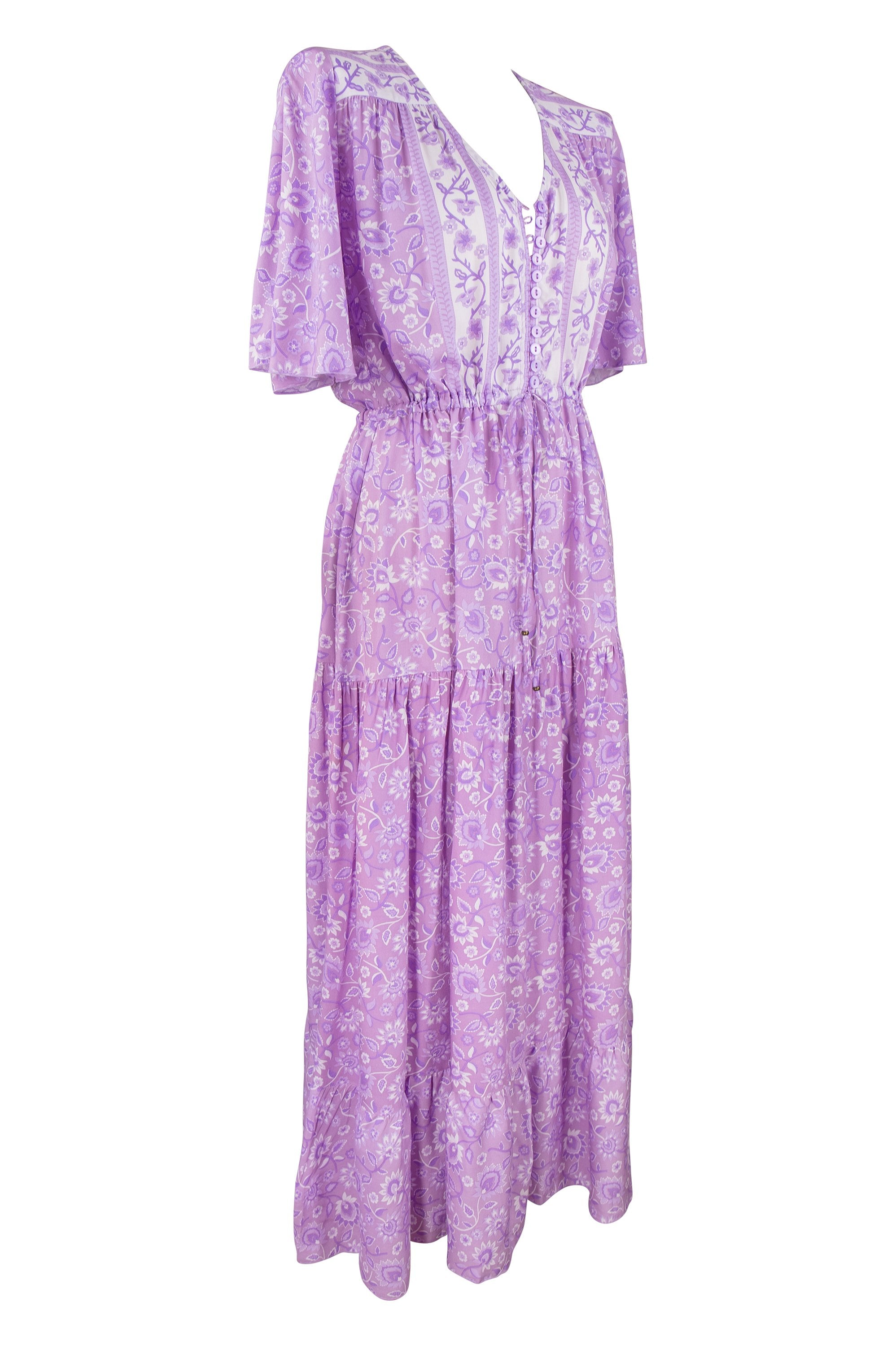 Boho Drifter Maxi Dress 🔮 Lavender Fields - Saffron Road