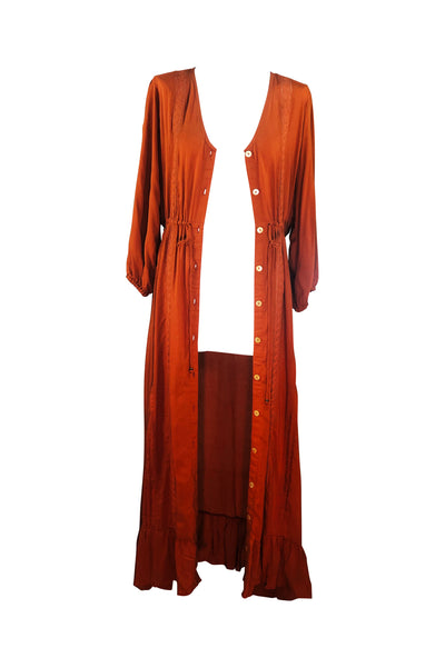 Duster / Maxi Dress 🧡 Rust - Saffron Road