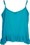 Lily Rose Cropped Singlet Teal - Saffron Road