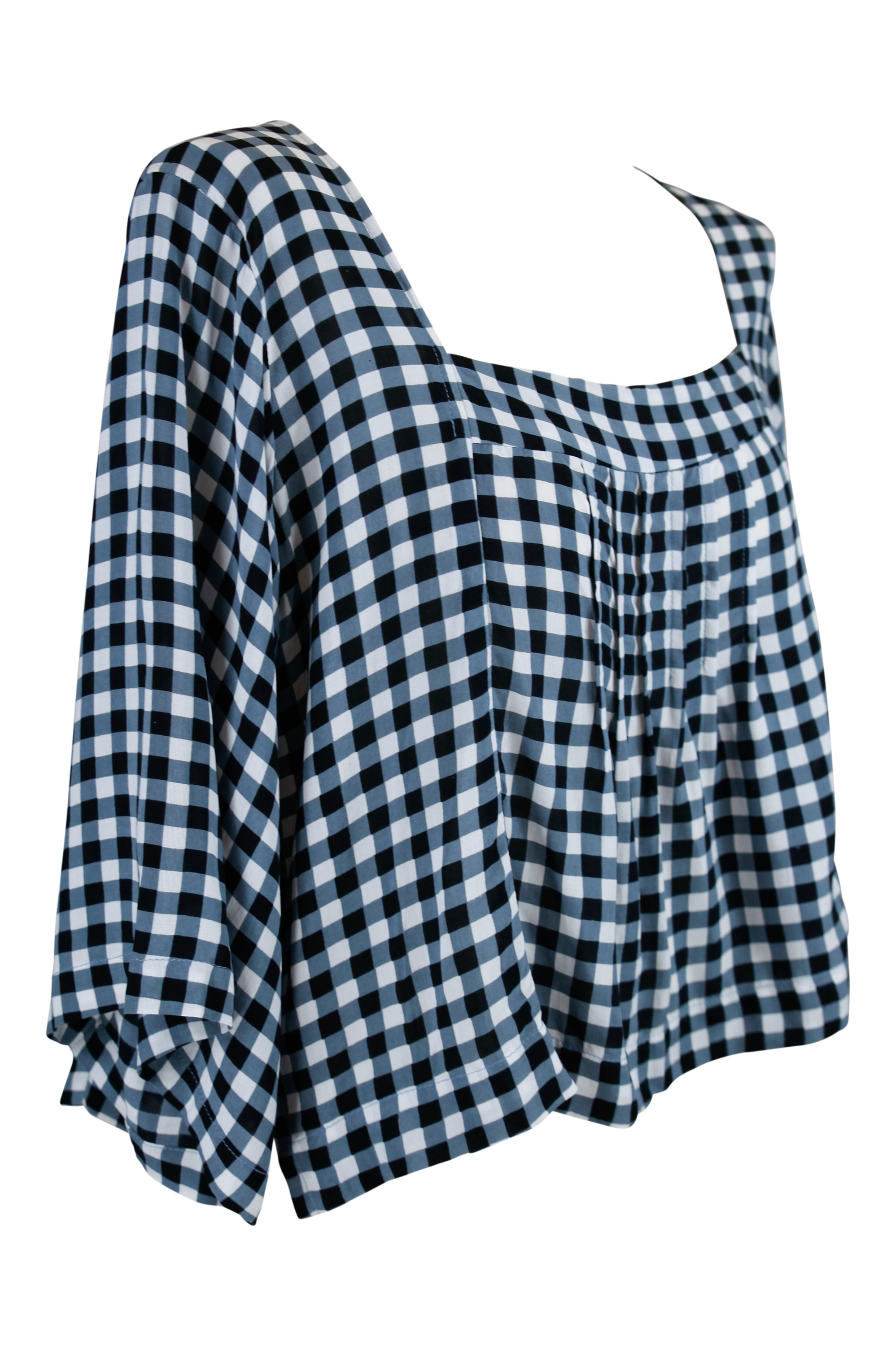 Lotus Flower Top - Gingham Pre-Order - Saffron Road