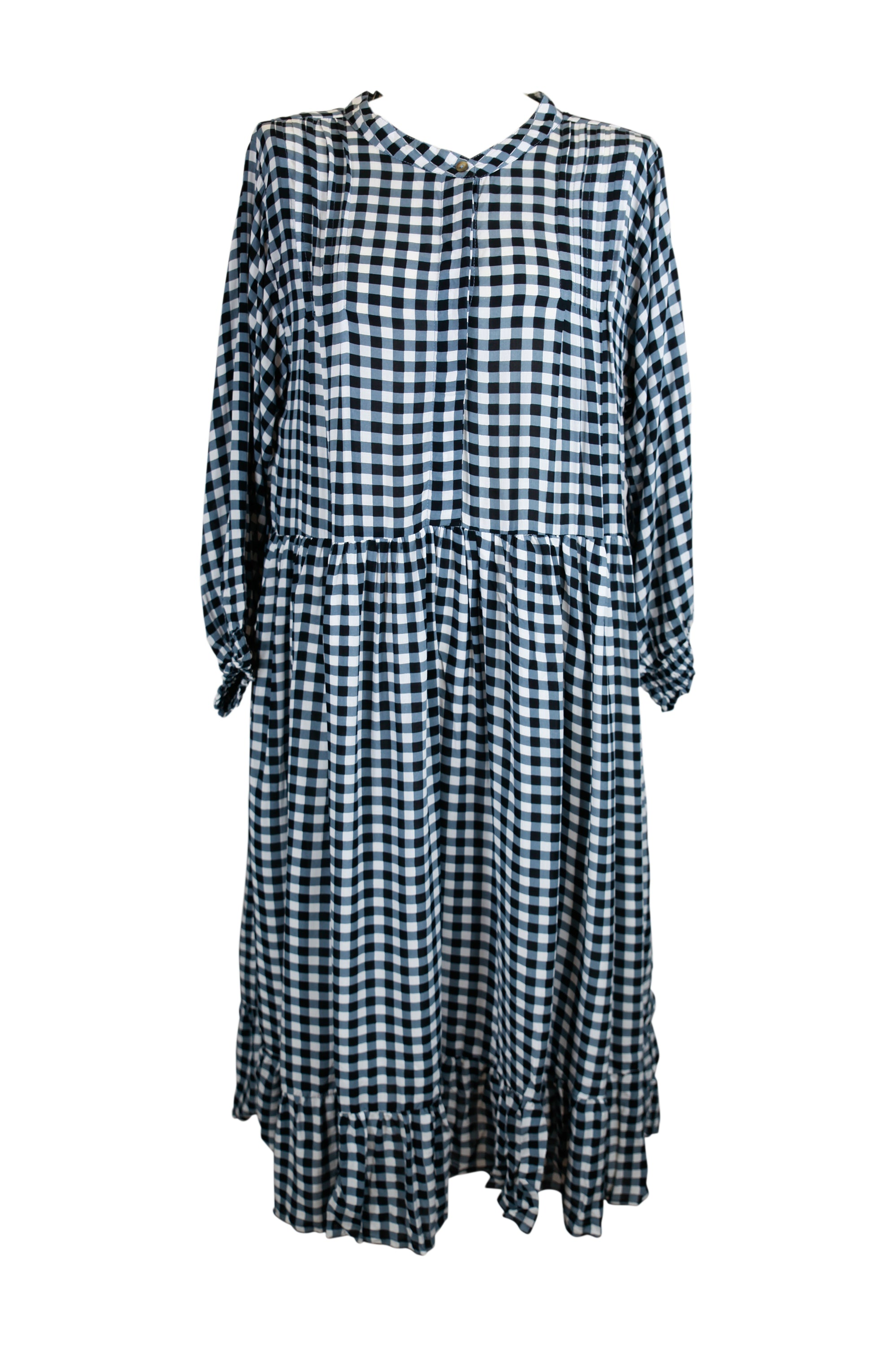 Valentina Midi Dress  Moonlight Gingham **Pre-Order Item** - Saffron Road