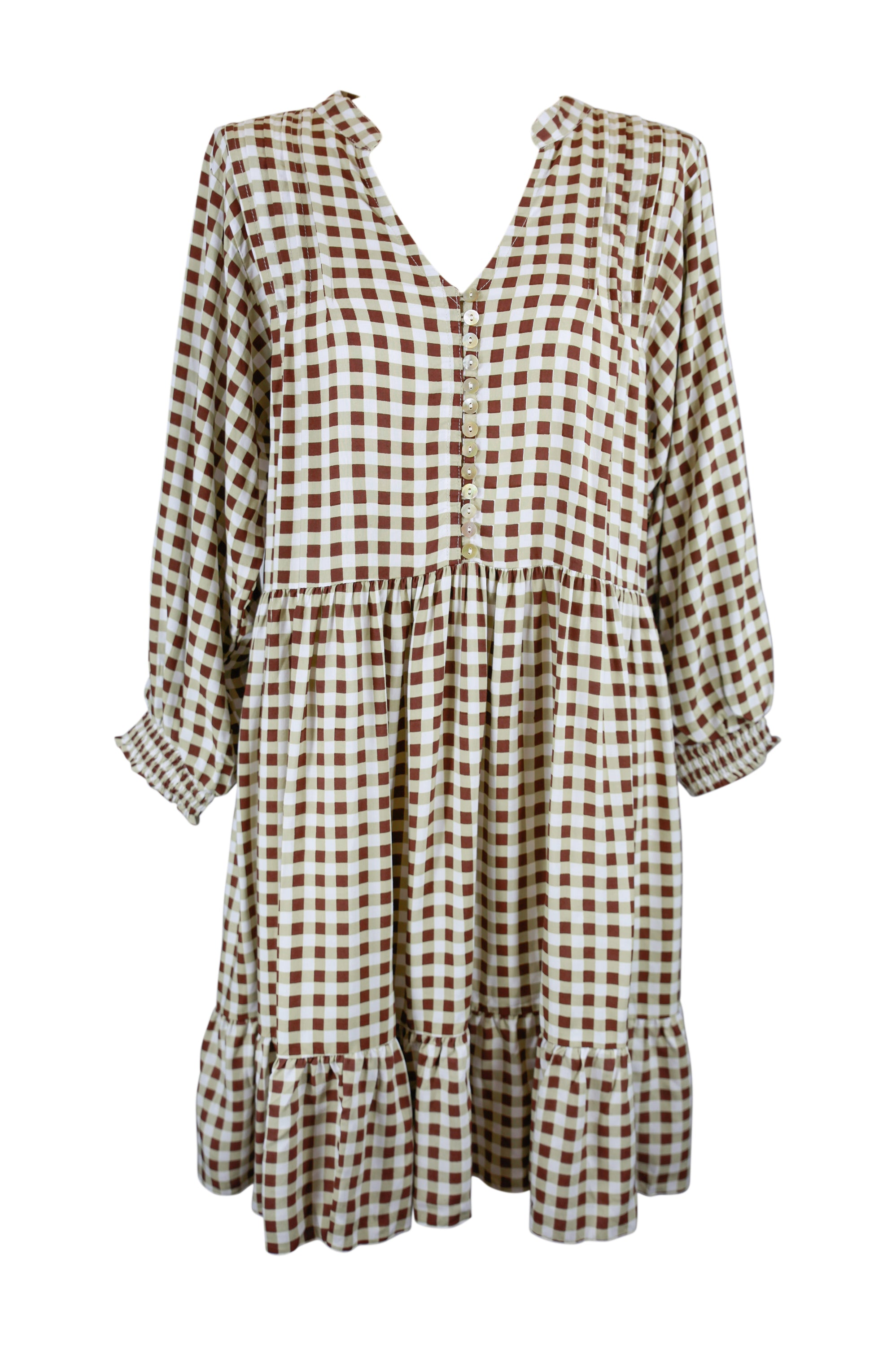 New Juliette Chocolate Gingham **Pre-Order Item** - Saffron Road
