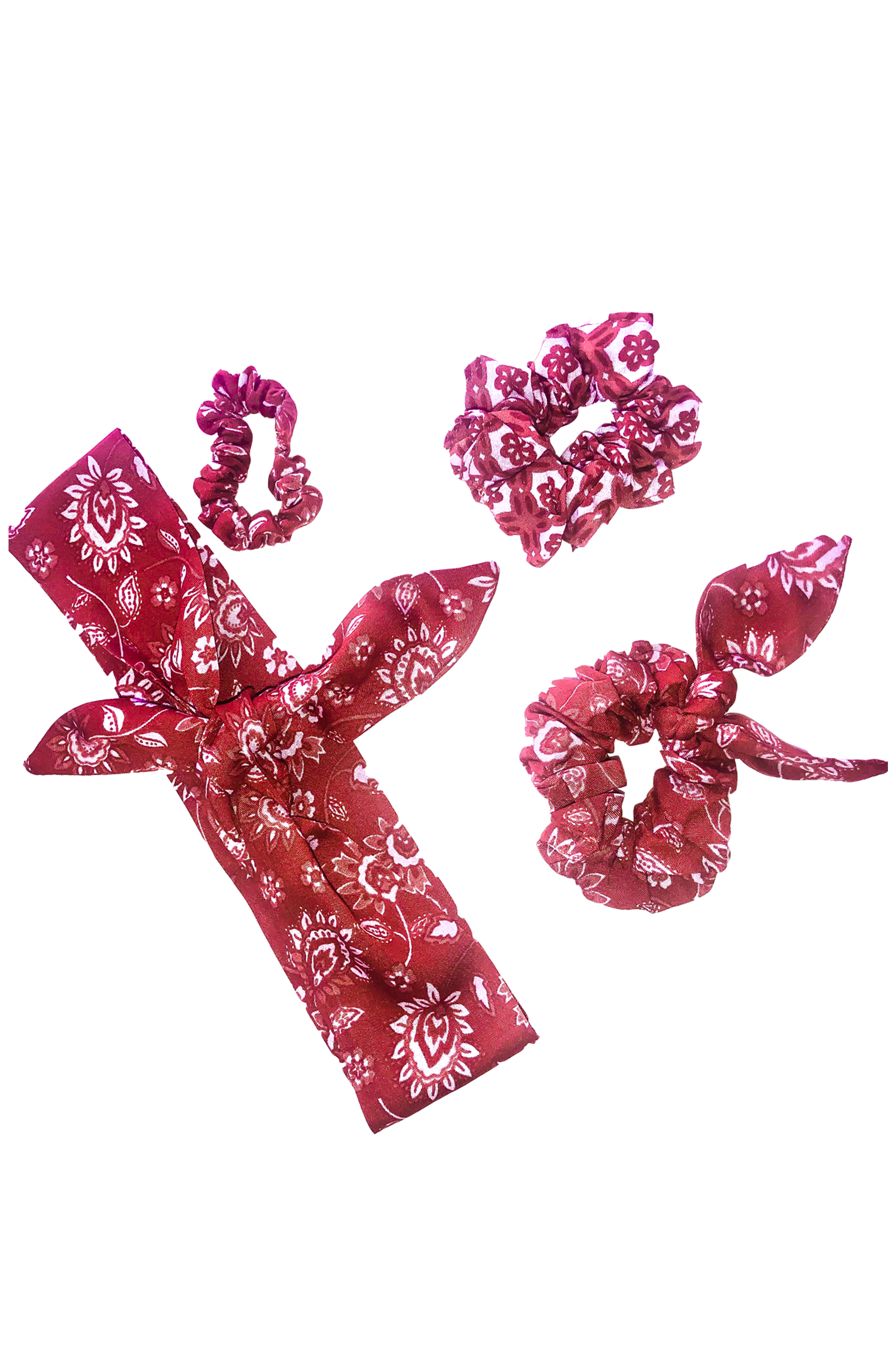 Ruby Rose Red Hair Ribbon Set - Saffron Road