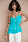 Lily Rose Singlet ♡ Teal - Saffron Road
