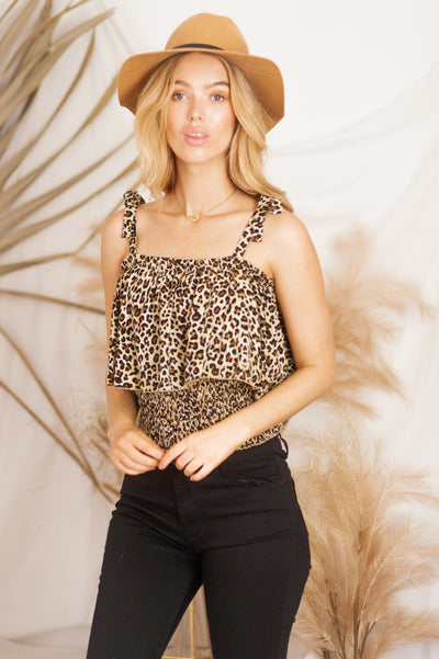 Shirred Top 🐯 Leopard - Saffron Road