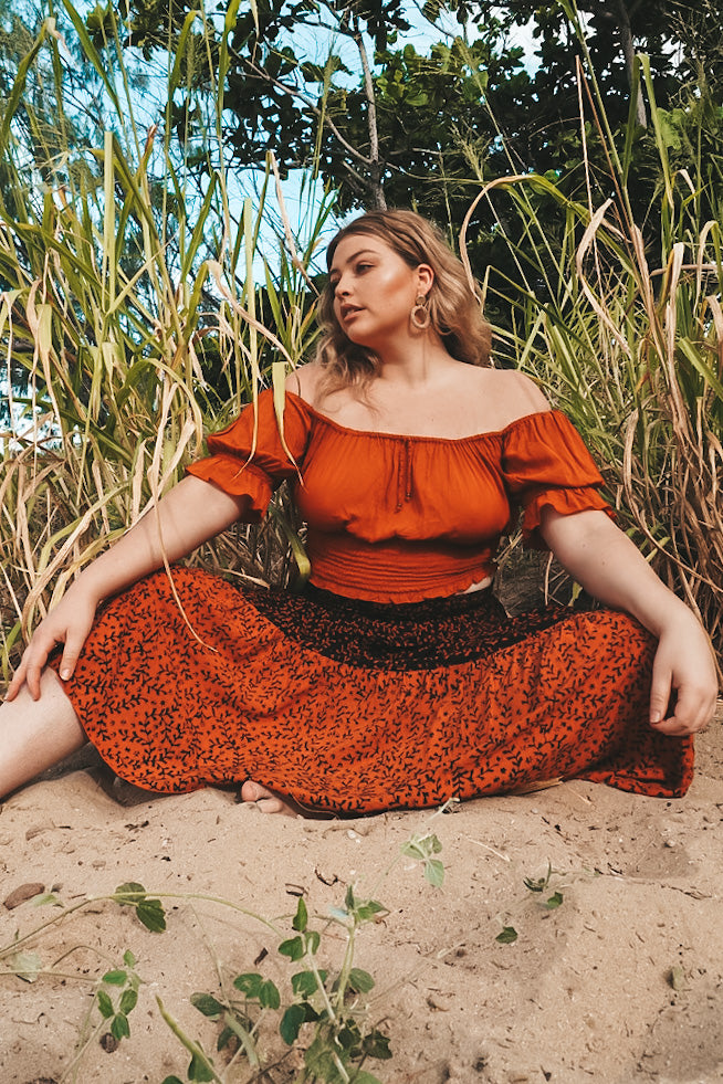 Amélie Top 🧡 Rust - Summer Dress
