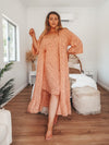 Bell Sleeve Maxi Duster / Dress Peach Mocha 🍑 - Saffron Road