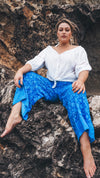 Wide Leg Lounge Pants 🌊 Blue Hawaii - Saffron Road