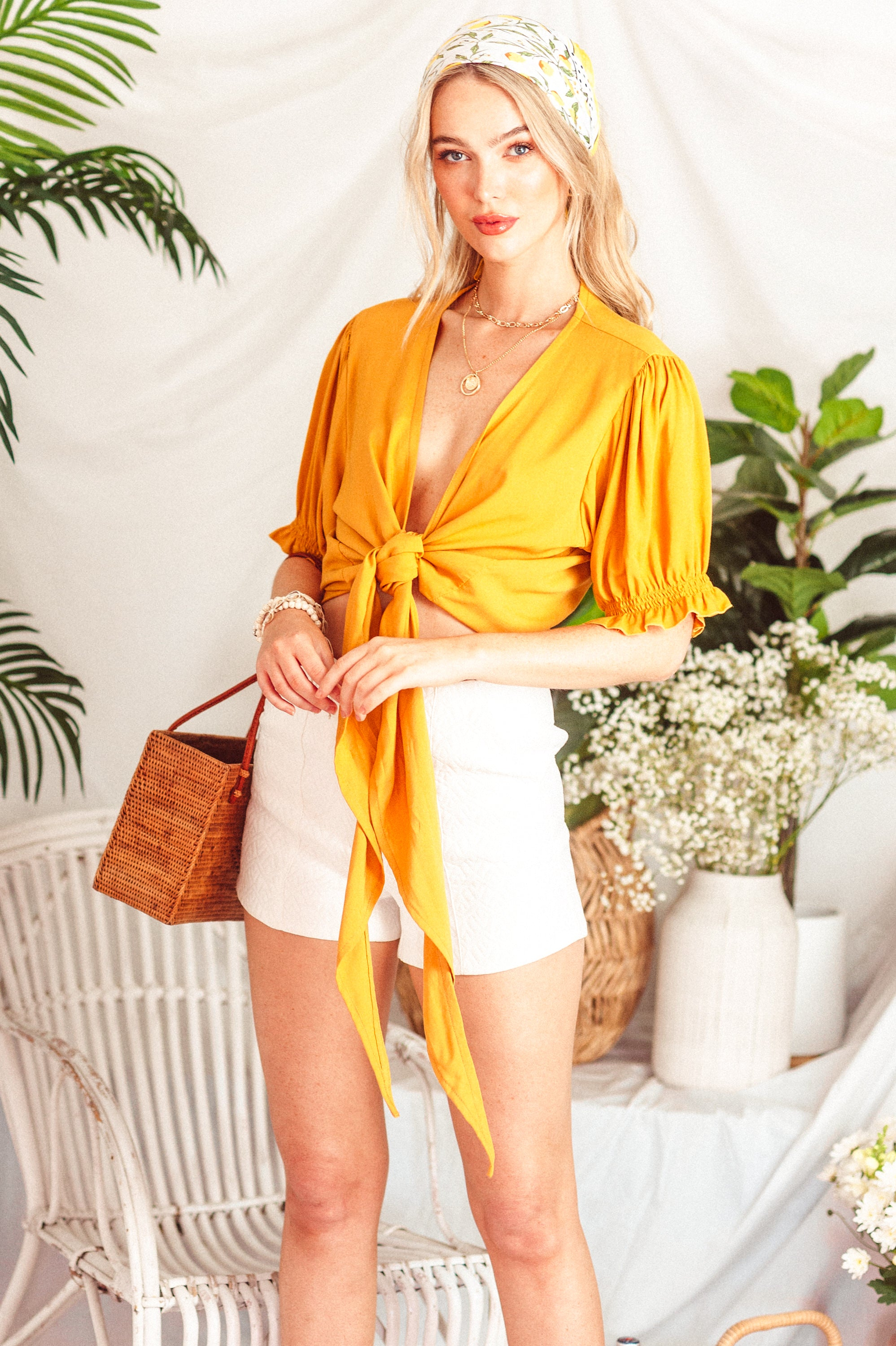 Wrap Me Up Top 🌼 Mustard Dream - Saffron Road