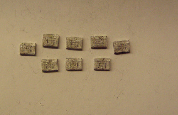 A410 (1) Battery boxes - large (8) - N GAUGE -