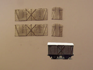 A504 (4) GWR fruit C van - N GAUGE -