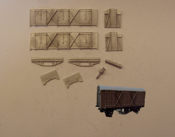 A507 (4) GWR Fruit D van - N GAUGE -