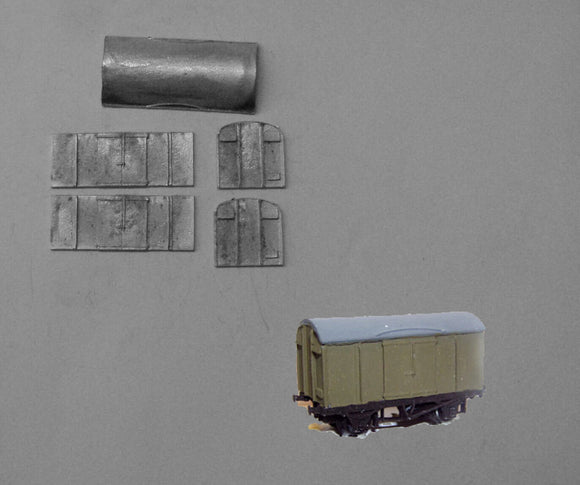 A554 (3) SR plywood van - N GAUGE -