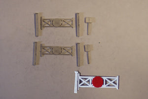 B136 (3) Single track level crossing - N GAUGE -