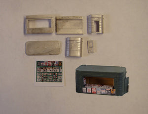 B14 (3) Station bookstall with coloured papers and magazines - N GAUGE -