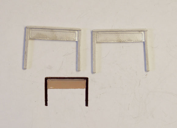 B32 (1) LSWR station nameboards (2) - N GAUGE -