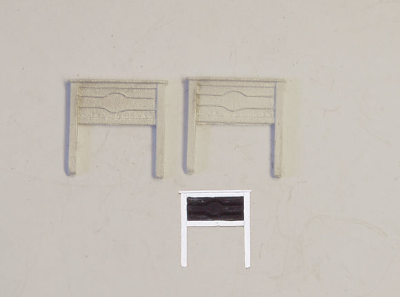 B33 (1) LMS station nameboards (2) - N GAUGE -