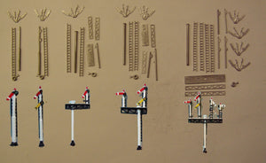 B356 (4) 1 each of B351-B355 inclusive GWR round post signals - N GAUGE -
