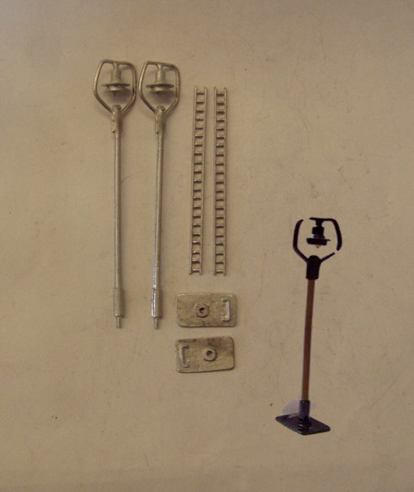 B40 (3) MR style tall yard lamps (2) - N GAUGE -