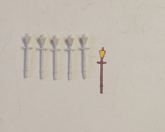 B41 (1) GWR station lamps (5) - N GAUGE -
