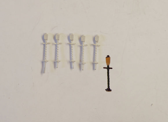 B42 (1) LSWR station lamps (5) - N GAUGE -