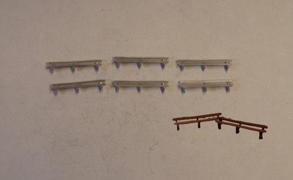 B60 (1) Long platform seats / park benches (6) - N GAUGE -