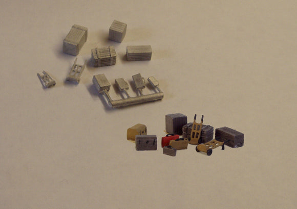 B61 (1) Sack trucks / luggage / packing cases - N GAUGE -