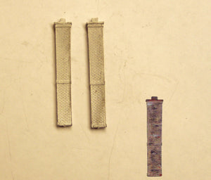 C104 (1) Full length brick chimney - 45mm tall (2) - N GAUGE -