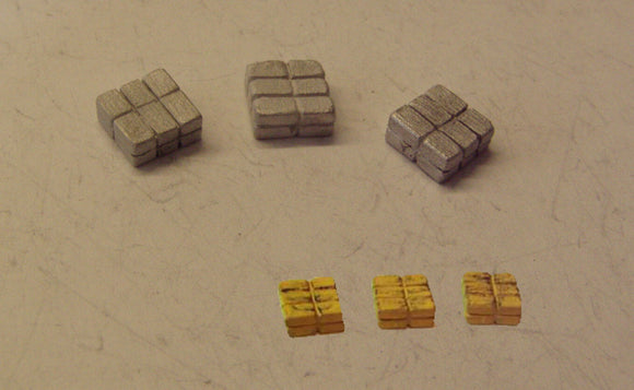 C60 (1) Hay bales (3 blocks) - N GAUGE -