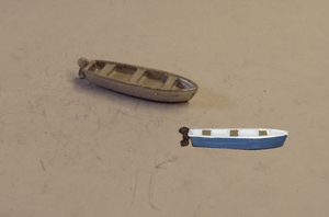 C95 (1) 13ft flat bottom skiff / boat with outboard motor - N GAUGE -