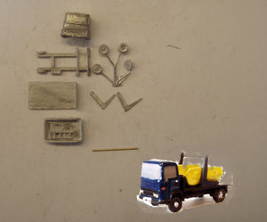 E103 (3) Dodge Commando skip lorry (intro 1973) - N GAUGE -