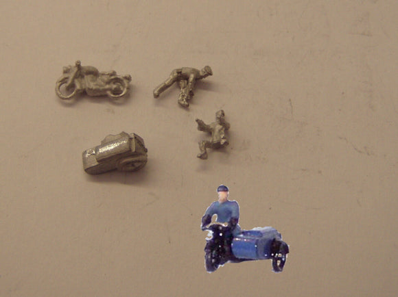 E108 (3) 1950's RAC Motorcycle patrol (includes 2 figures) - N GAUGE -