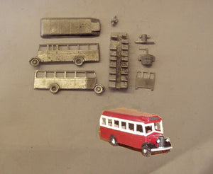 E121 (3) Bedford OWB single deck bus (intro. 1942) - N GAUGE -