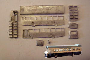 E132 (4) Leyland National MkI single deck bus (intro 1972) - N GAUGE -