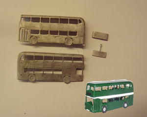 E140 (3) Bristol VRT double deck bus (intro. 1974) - N GAUGE -