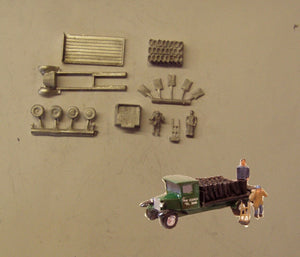 E30 (3) Bedford coal lorry and crew (intro. 1931) - N GAUGE -