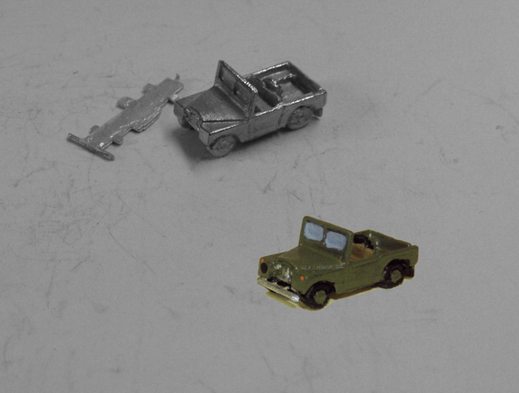 G17 (2) Landrover Series I open back (intro 1948) - N GAUGE -