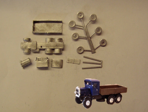 G27 (3) Scammel Rigid Six open back (intro 1931) - N GAUGE -