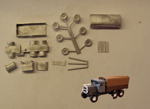 G28 (3) Scammel Rigid Six with canvas cover (intro 1931) - N GAUGE -