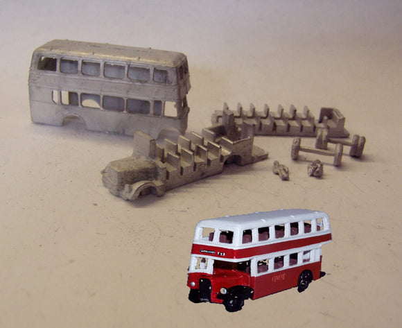 G57 (4) Bristol KSW double deck bus (intro 1951) - N GAUGE -