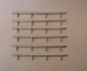 M12 (1) Crash barrier (6 pieces total length 490mm) - N GAUGE -