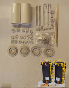 M42 (3) Chemical storage tanks (2) - N GAUGE -