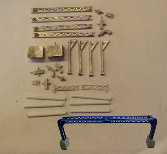 M43 (3) Pipe support bridge - N GAUGE -