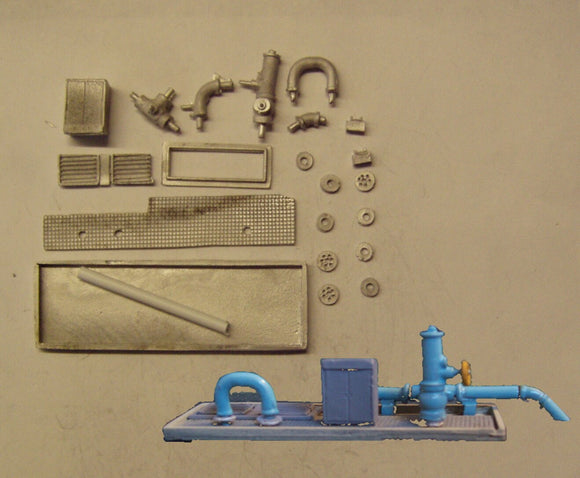 M44 (3) Recycled water sump access with pipes - N GAUGE -