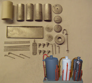 M45 (3) Recovered chemical and oil storage tanks - N GAUGE -